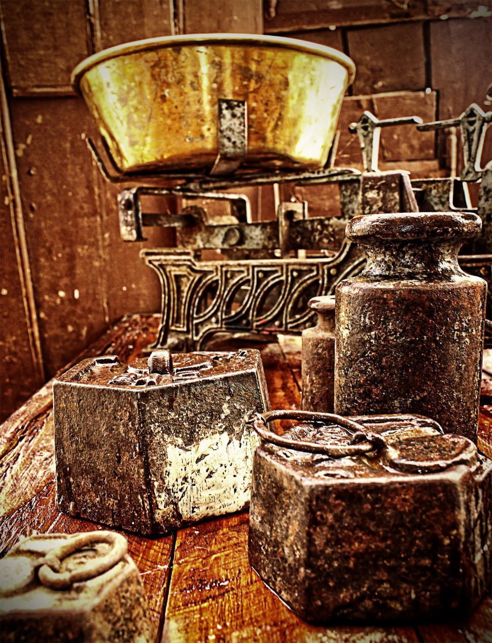 Download Free Stock HD Photo of Old rusty scales and weights - Grunge looks Online