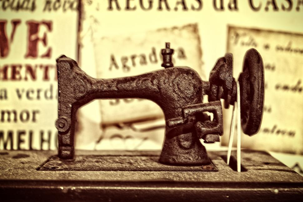 Download Free Stock HD Photo of Vintage sewing machine Online