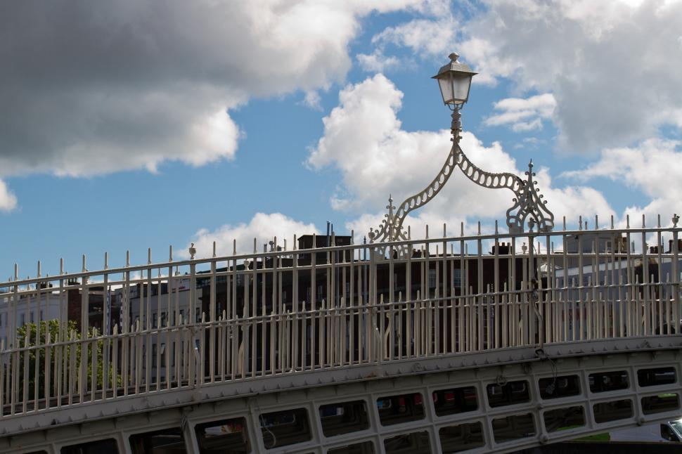Download Free Stock HD Photo of Light on the Ha penny Bridge  Online