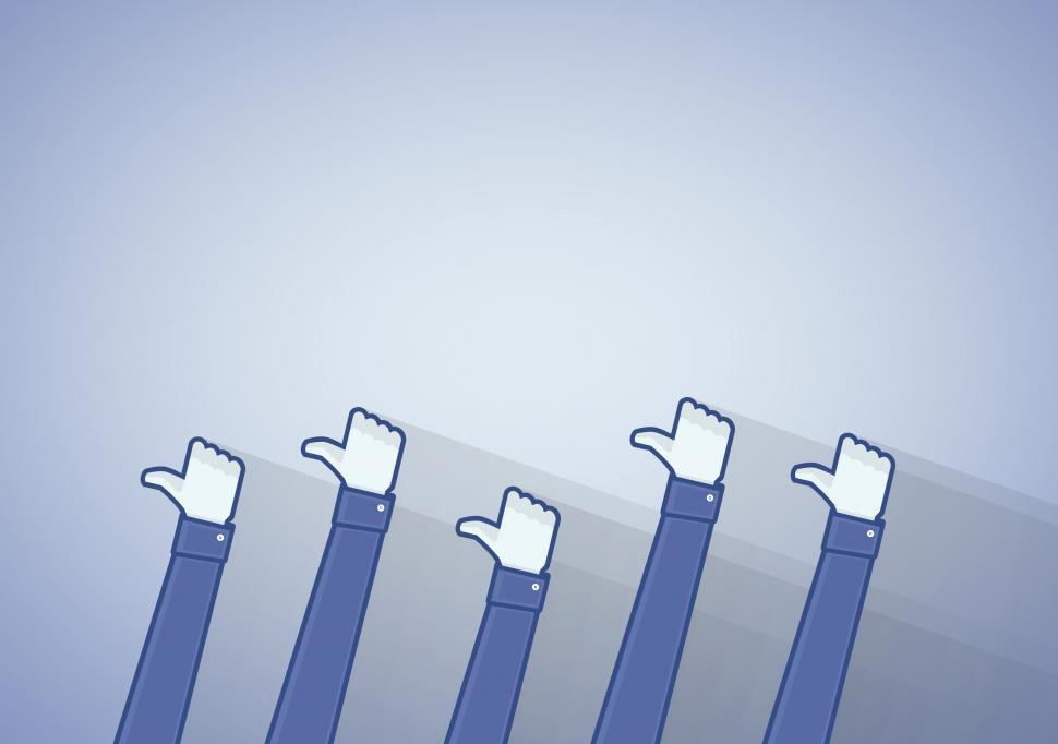 Download Free Stock HD Photo of Many thumbs up icon - Liking on the social media networks Online