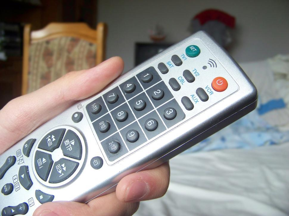Get Free Stock Photos of TV remote control in hand Online