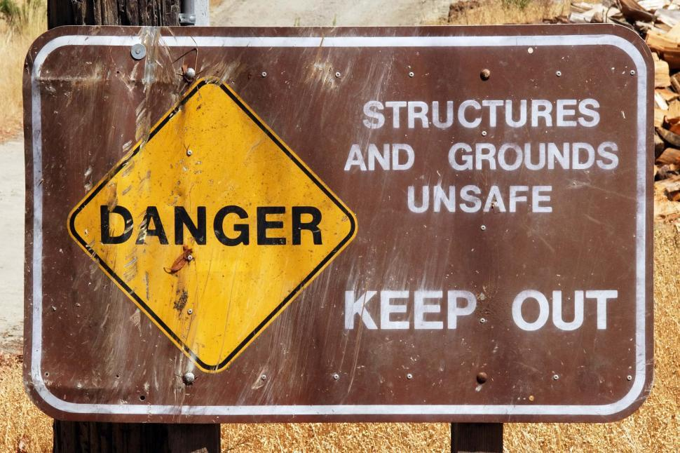 Download Free Stock HD Photo of Danger unsafe structure signs Online