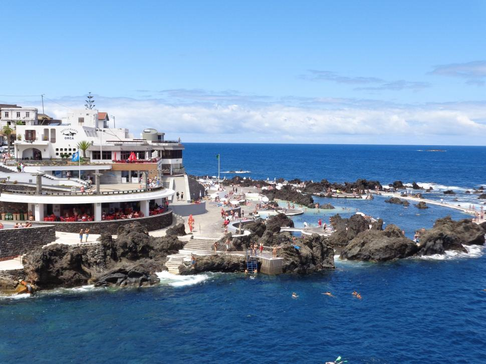 Download Free Stock HD Photo of Madeira natural swimming pool resort Online
