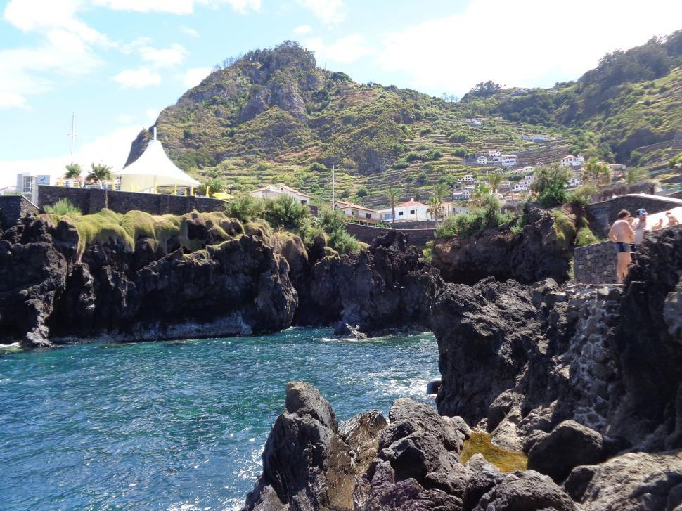 Download Free Stock HD Photo of inlet at Madeira natural swimming pool  Online