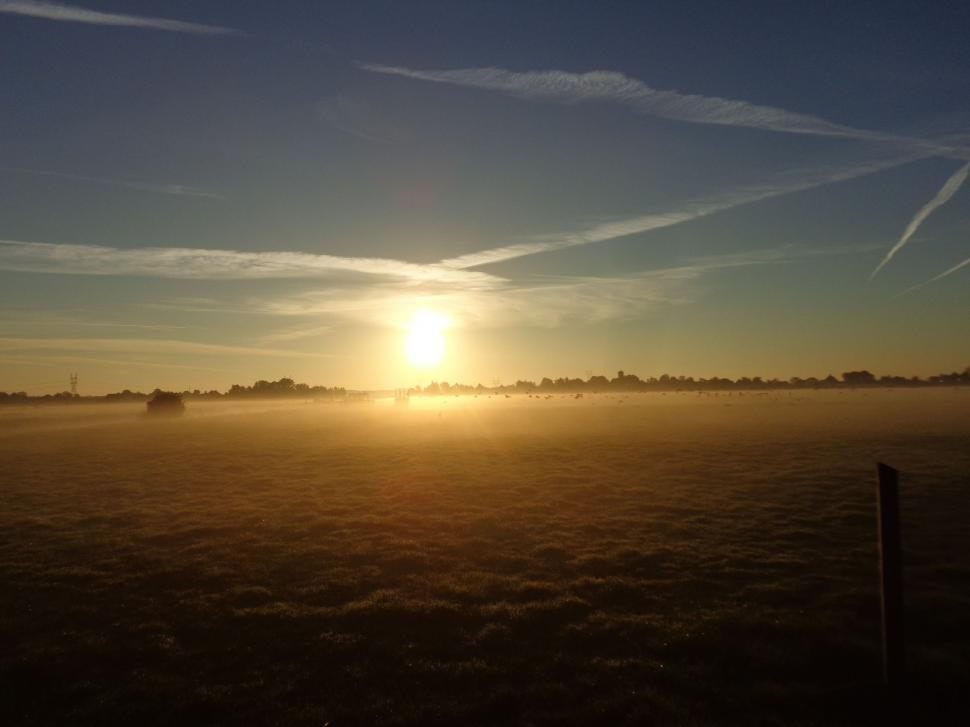 Download Free Stock HD Photo of Sunrise haze in the Netherlands  Online