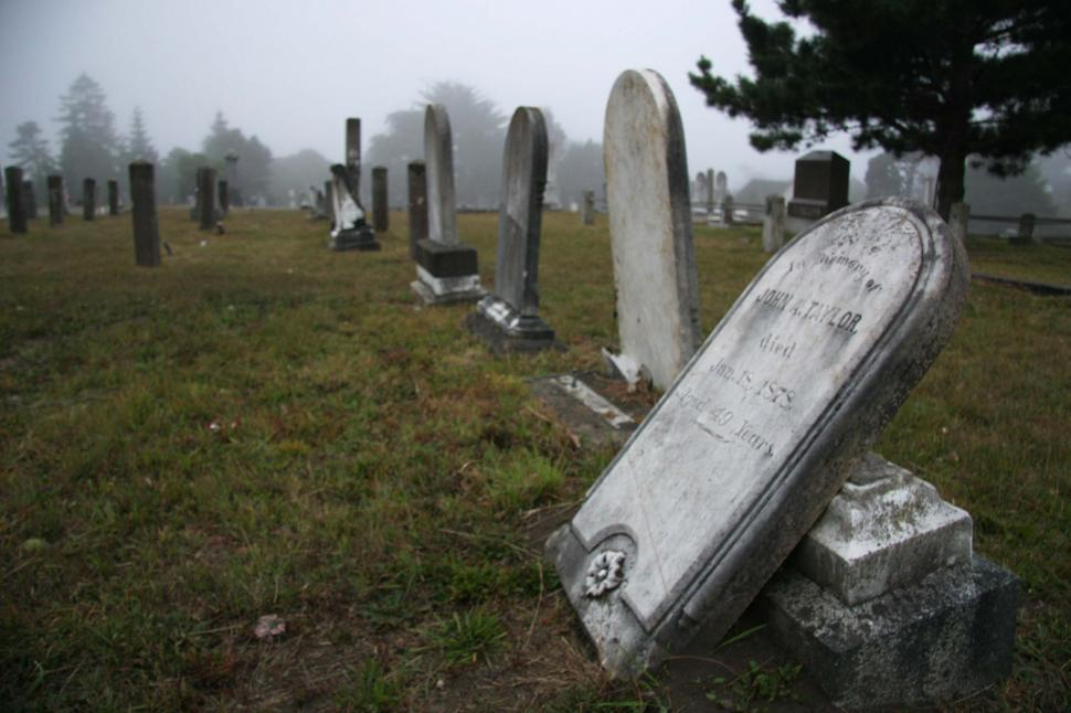 Download Free Stock HD Photo of Toppled headstone Online