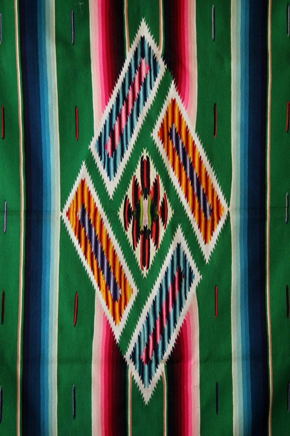 Download Free Stock HD Photo of Woven mexican sarape Online