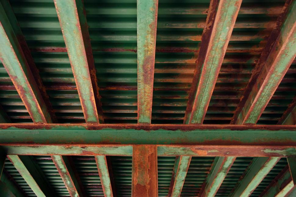 Download Free Stock HD Photo of Rusting bridge underside - train trestle Online