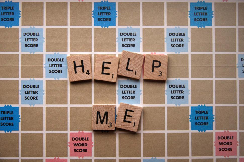 Download Free Stock HD Photo of Spelling Game says Help Me Online