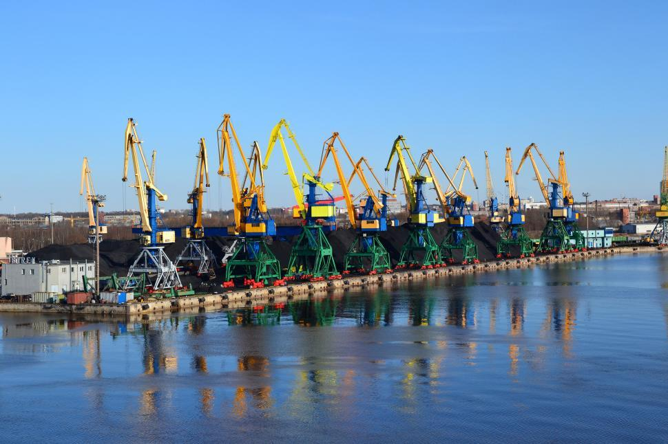 Download Free Stock HD Photo of Cranes in Riga Online