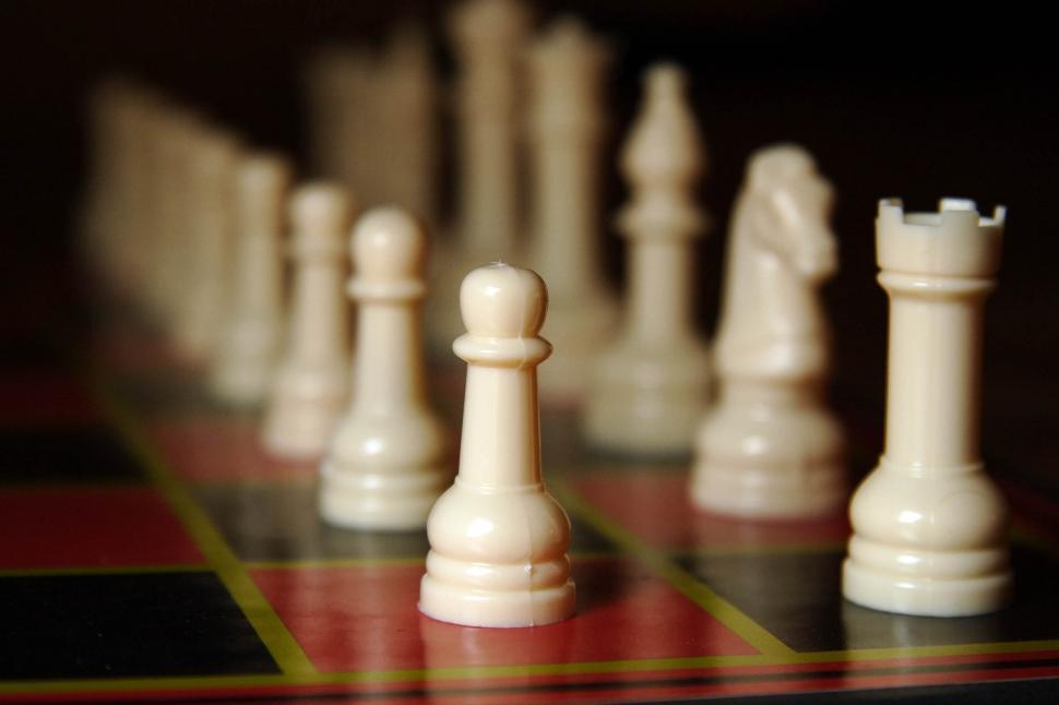 Download Free Stock HD Photo of White Chess Pieces Online