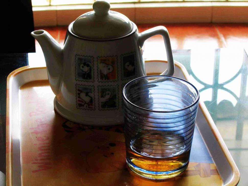 Download Free Stock HD Photo of Teapot and glass still life Online