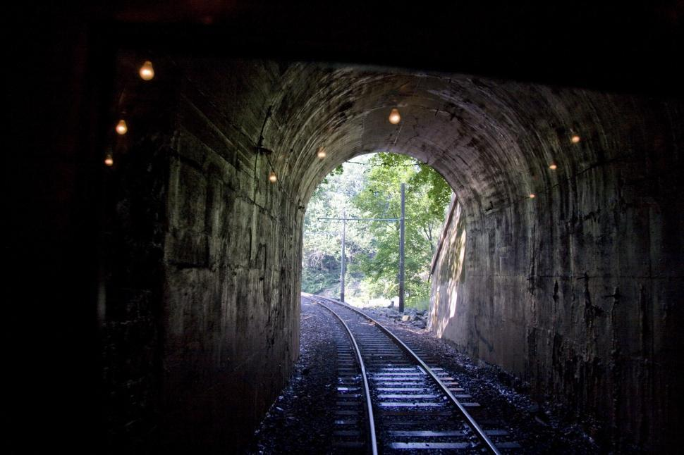 Download Free Stock HD Photo of Laurel Line Railroad Tunnel Online