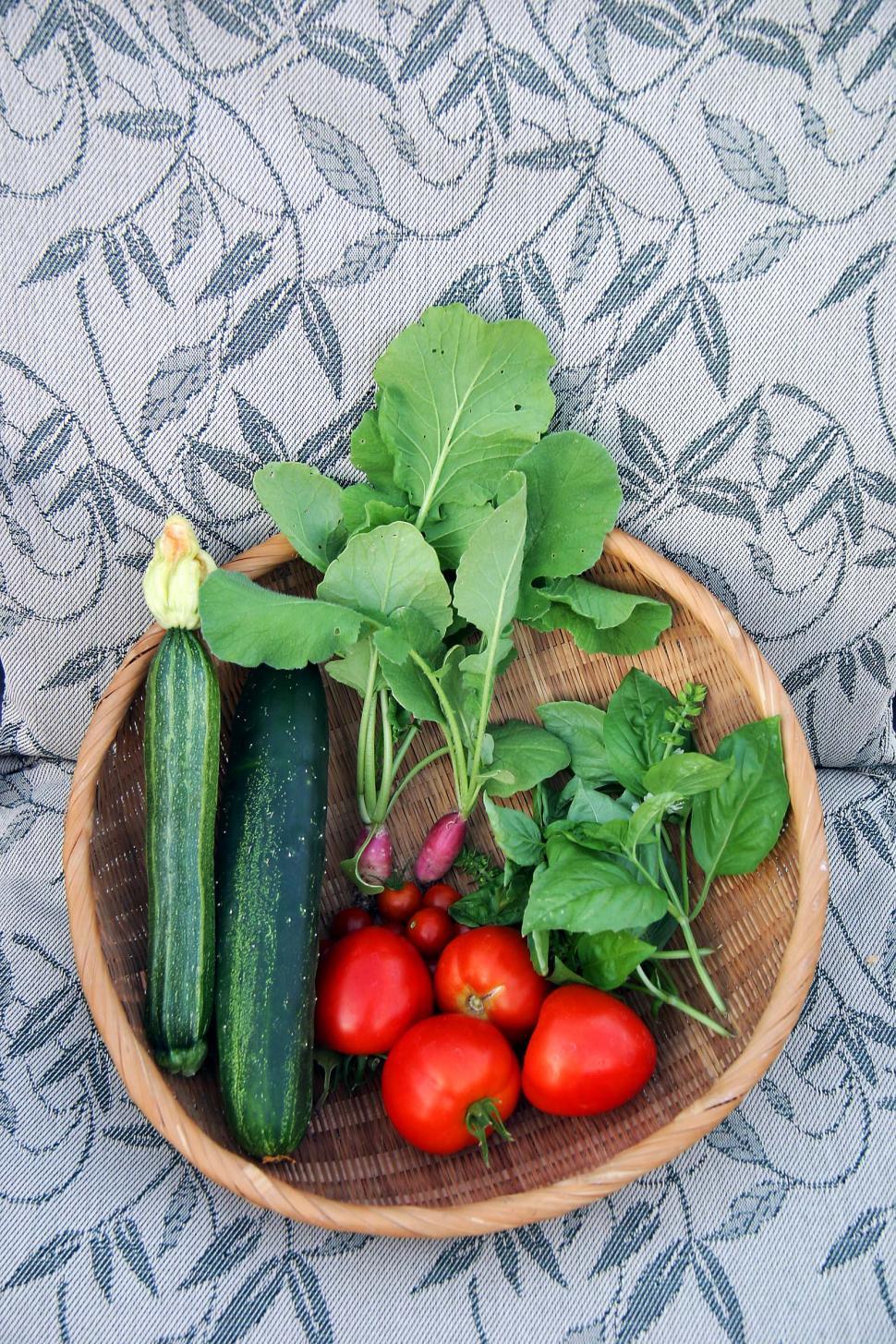 Download Free Stock HD Photo of Basket of veggies Online