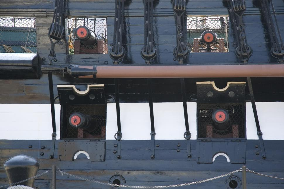 get free stock photos of cannons on the uss constitution online