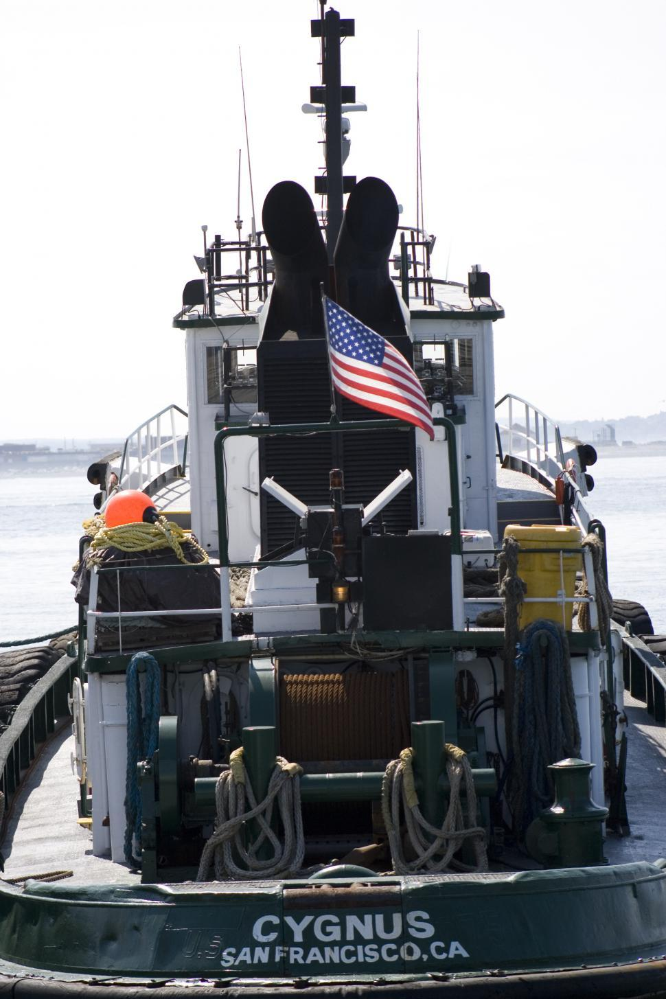 Download Free Stock HD Photo of Tugboat at the Harbor Islands Online