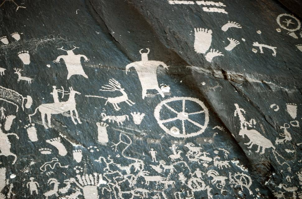 Download Free Stock HD Photo of Newspaper Rock State Historic Monument Online