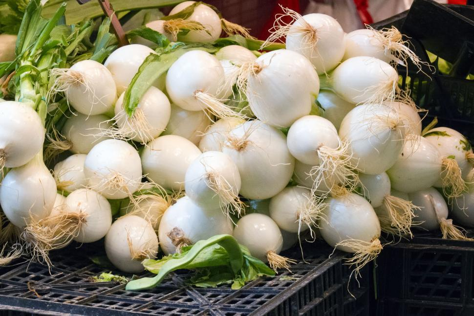 Download Free Stock HD Photo of Onions at the Market Online