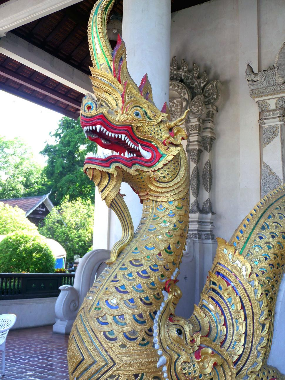 Download Free Stock HD Photo of Naga - Temple guardian  Online