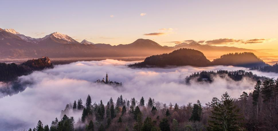 Download Free Stock HD Photo of Valley of fog Online