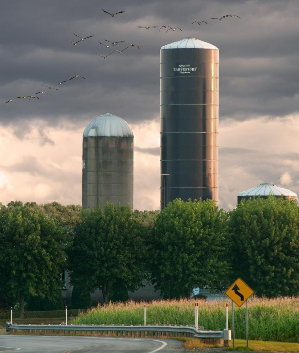 Download Free Stock HD Photo of Silos in the sky Online