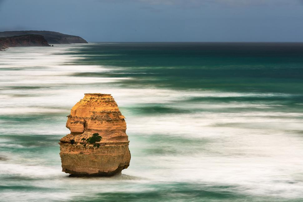 Download Free Stock HD Photo of Rock needle on the southern coast of Australia Online