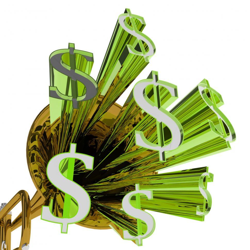 Download Free Stock HD Photo of Dollars Sign Means Money Currency And Finances Online