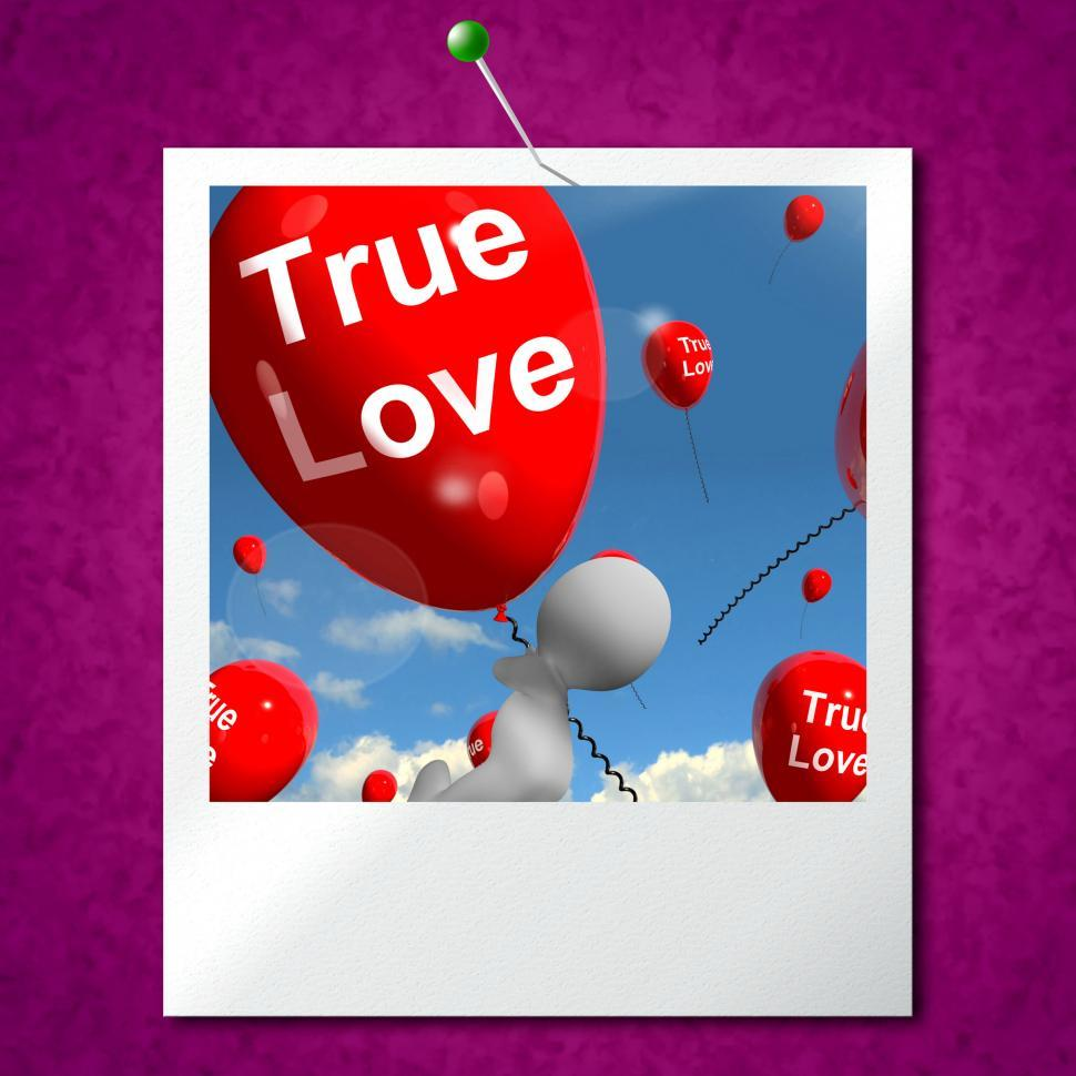 Download Free Stock HD Photo of True Love Balloons Photo Represents Couples and Lovers Online