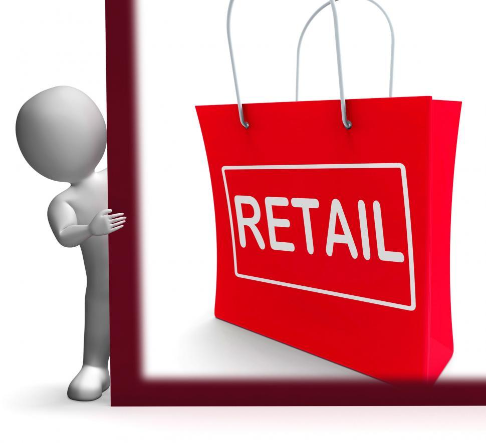 Download Free Stock HD Photo of Retail Shopping Sign Shows Buying Selling Merchandise Sales Online