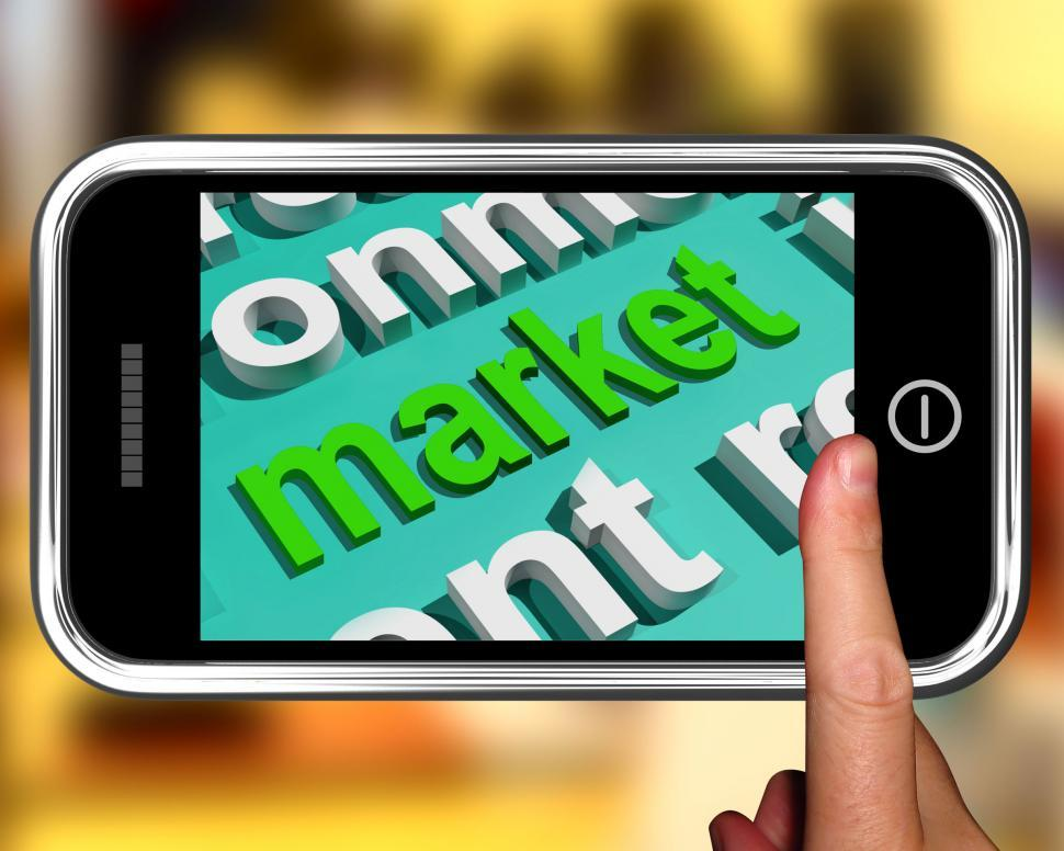 Download Free Stock HD Photo of Market In Word Cloud Means Marketing Advertising Sales Online