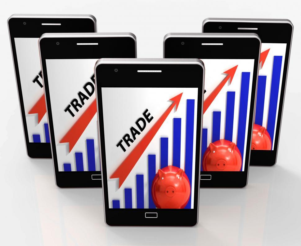 Download Free Stock HD Photo of Trade Graph Shows Growth In Markets And Share Value Online