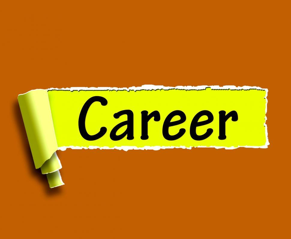 Download Free Stock HD Photo of Career Word Means Internet Job Or Employment Search Online