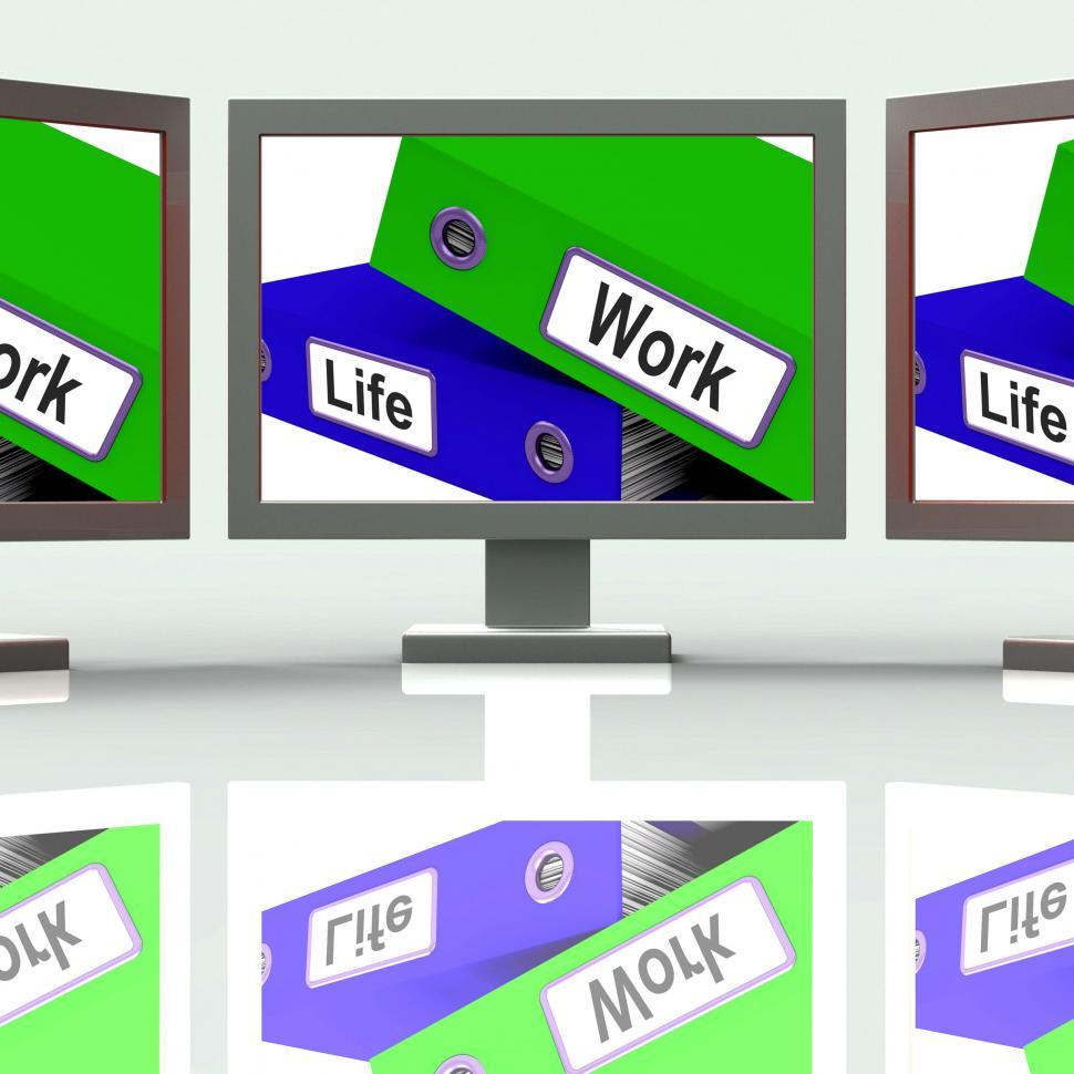 Download Free Stock HD Photo of Life Work Folders Mean Balance Of Career And Leisure Online