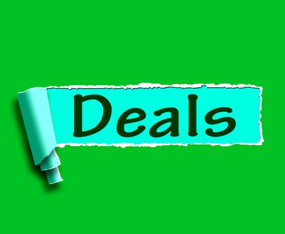 Download Free Stock HD Photo of Deals Word Shows Online Offers Bargains And Promotions Online
