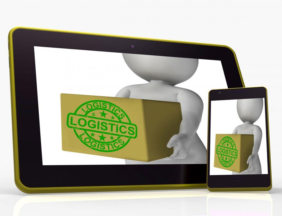 Download Free Stock HD Photo of Logistics Tablet Means Packing And Delivering Products Online
