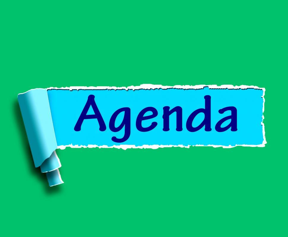 get free stock photos of agenda word means online schedule or
