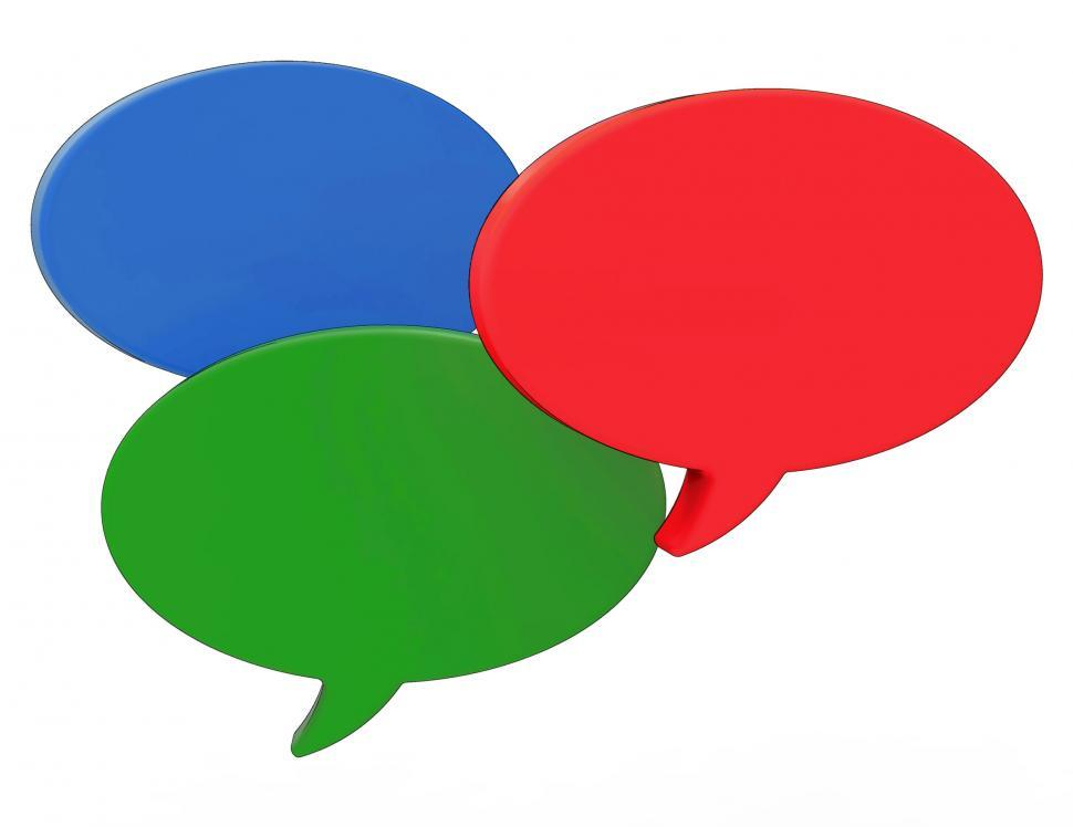 Download Free Stock HD Photo of Blank Speech Balloons Shows Copyspace For Thought Chat Or Idea Online