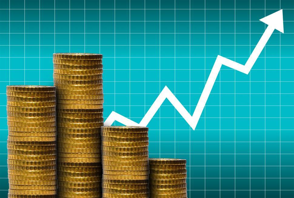 Download Free Stock HD Photo of Money with financial graph - Money and markets concept Online