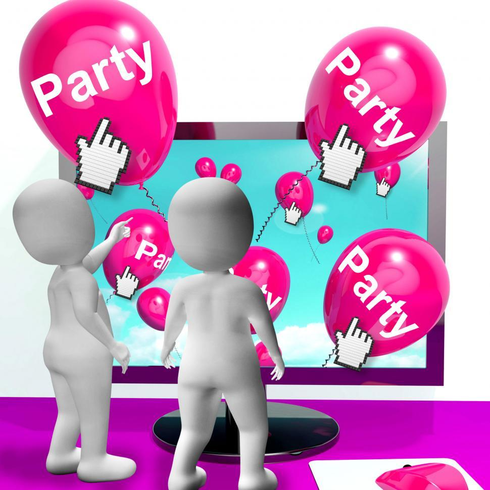 Get Free Stock Photos Of Party Balloons Represent Internet Parties