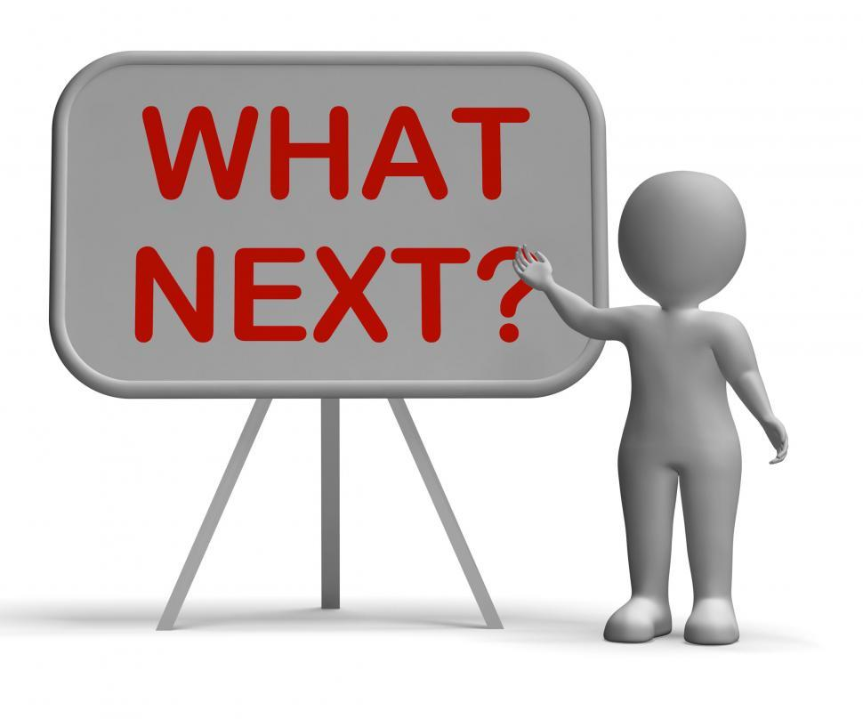 Download Free Stock HD Photo of What Next Whiteboard Means Following Procedures Or Planning Online