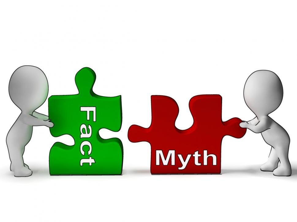 Download Free Stock HD Photo of Fact Myth Puzzle Shows Fact Or Mythology Online