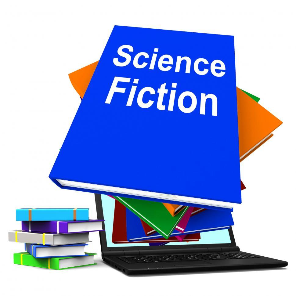 Download Free Stock HD Photo of Science Fiction Book Stack Online Shows SciFi Books Online