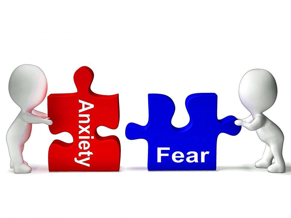 Download Free Stock HD Photo of Anxiety Fear Puzzle Means Anxious Or Afraid Online