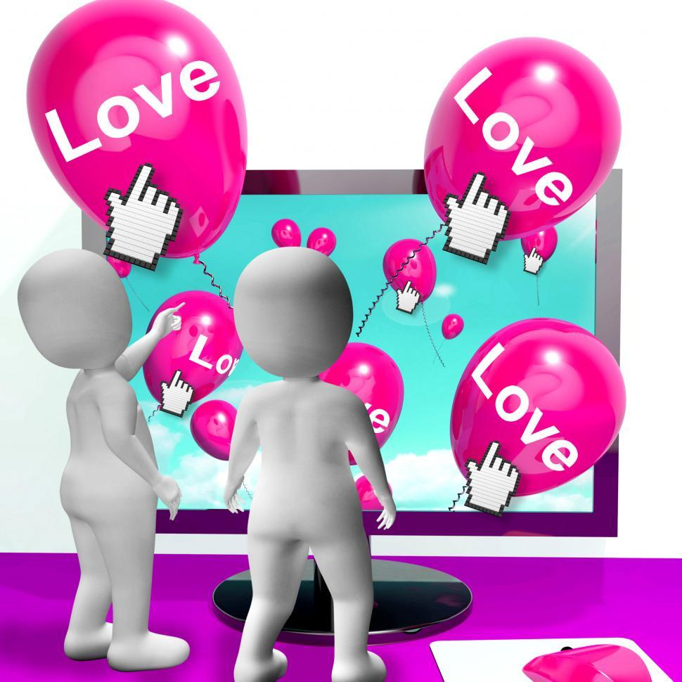 Get Free Stock Photos Of Love Balloons Show Internet Fondness And