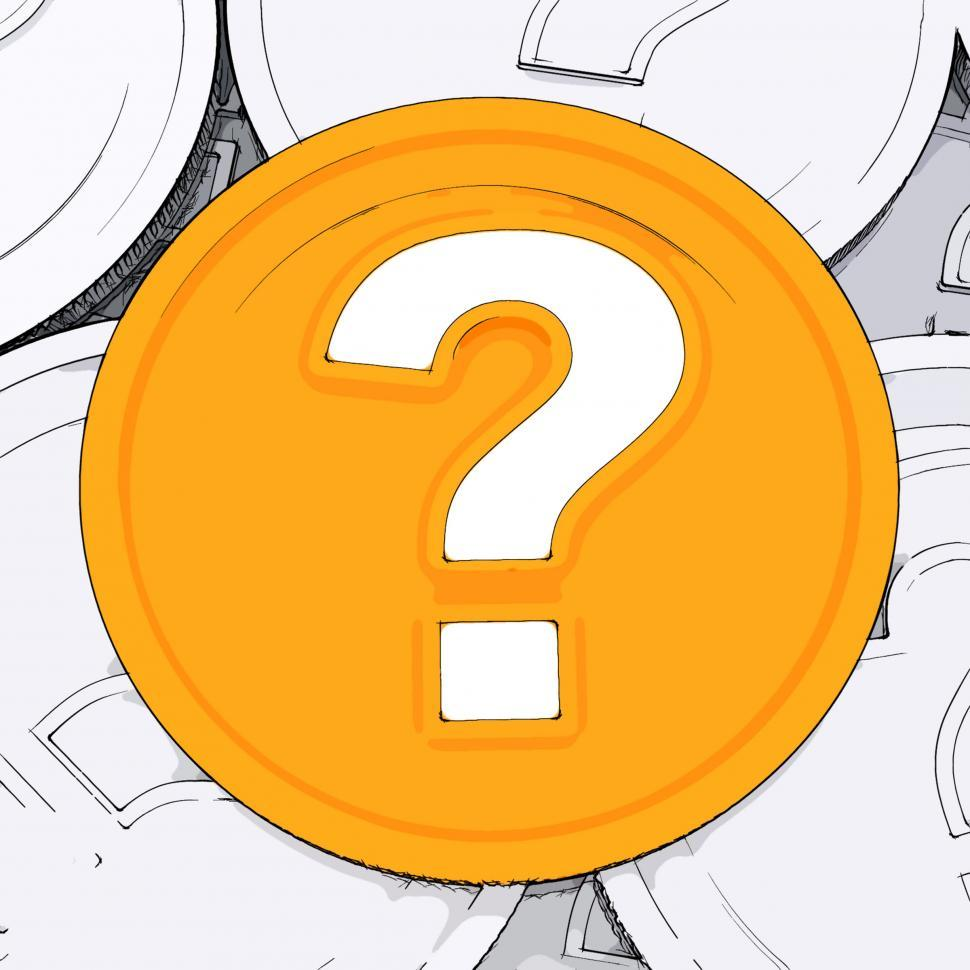 Download Free Stock HD Photo of Question Mark Coin Means Wondering About Money Online