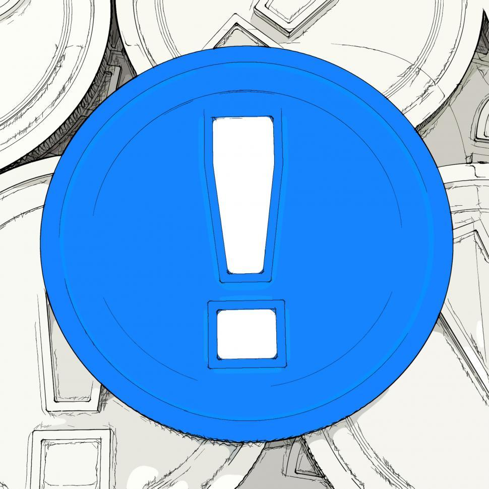 Download Free Stock HD Photo of Exclamation Mark Coin Means Surprise And Warning About Money Online