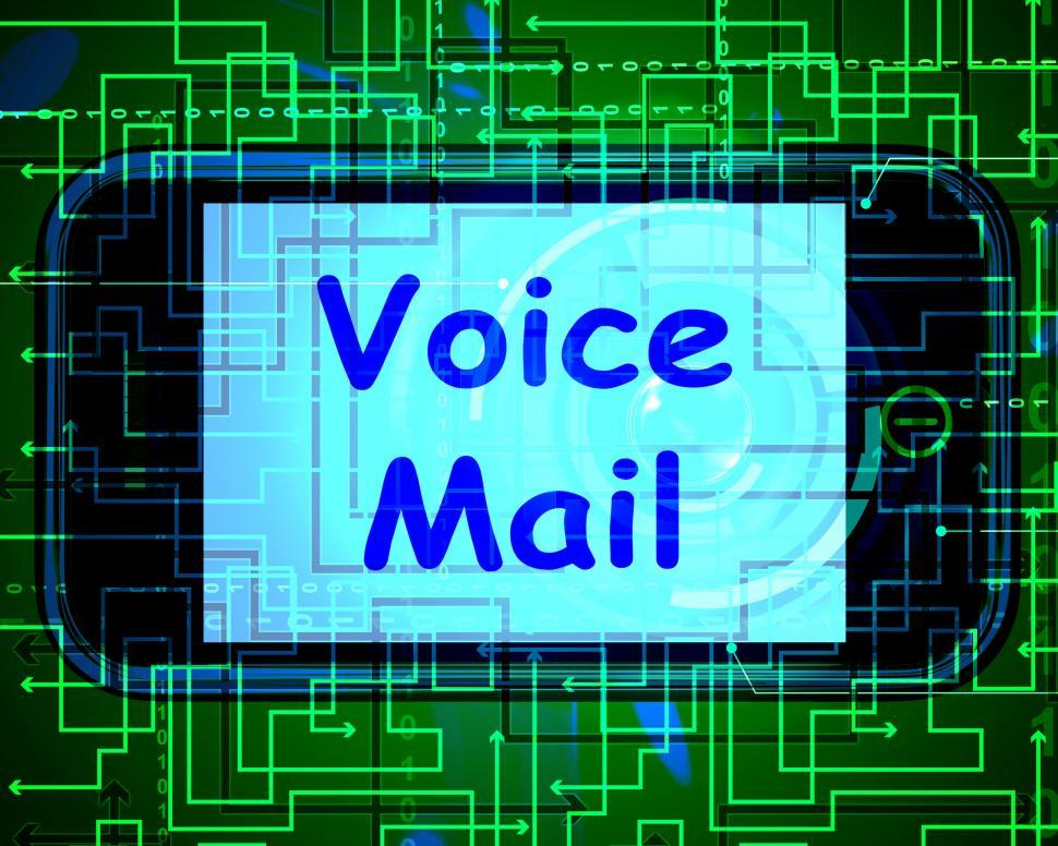 Download Free Stock HD Photo of Voice Mail On Phone Shows Talk To Leave Messages Online