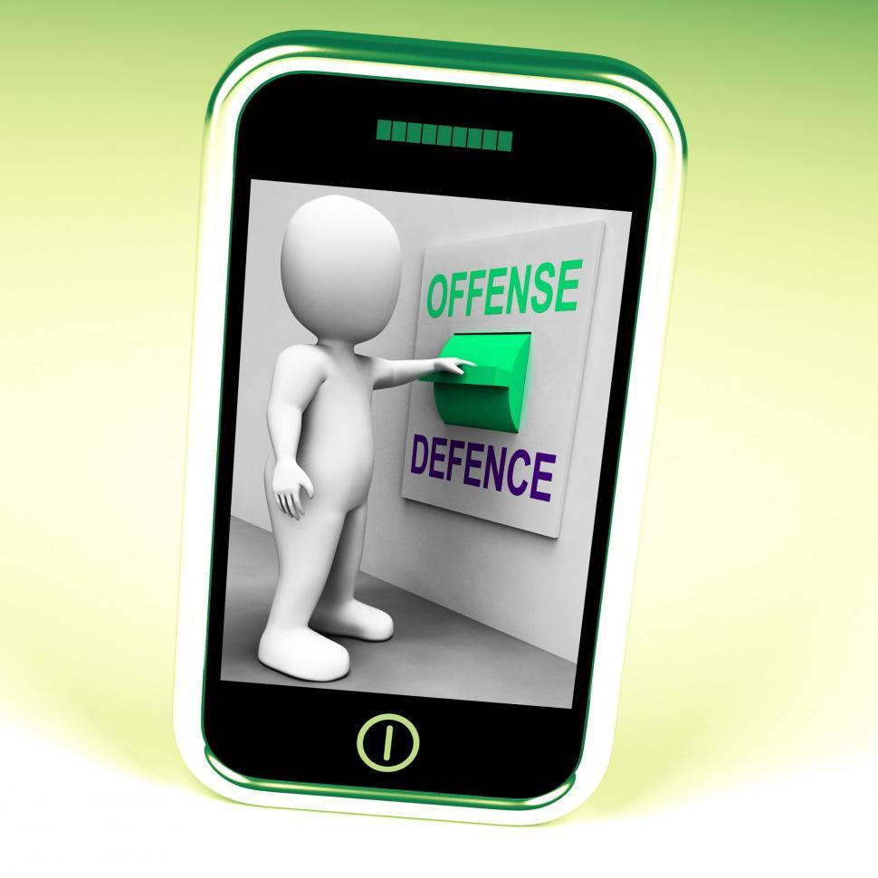 Download Free Stock HD Photo of Offense Defence Switch Shows Attack Or Defend Online