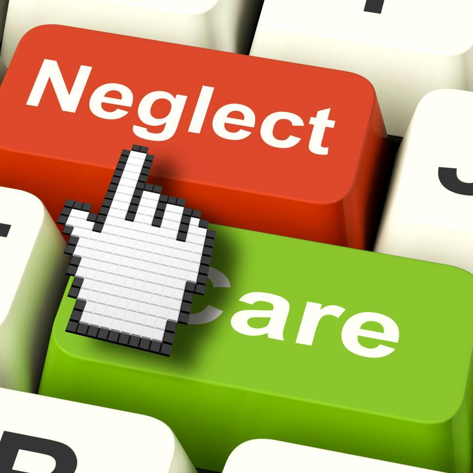 Download Free Stock HD Photo of Neglect Care Computer Shows Neglecting Or Caring Online