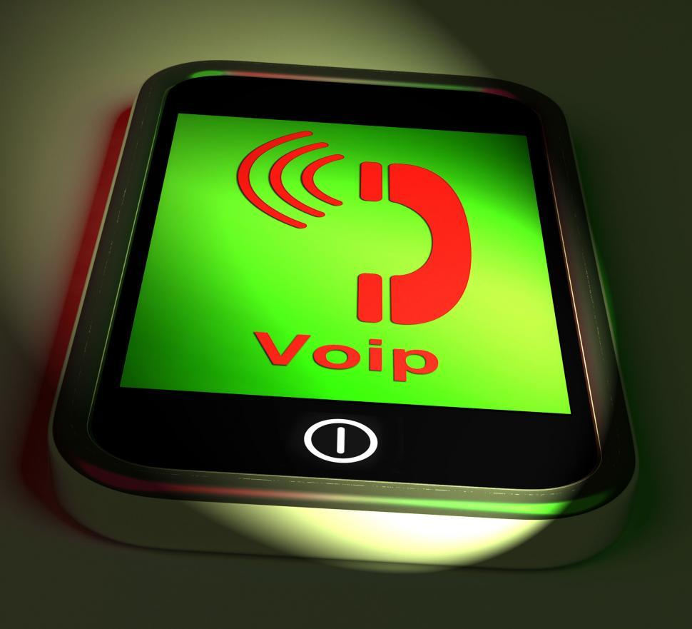 Download Free Stock HD Photo of Voip On Phone Shows Voice Over Internet Protocol And Ip Telephon Online